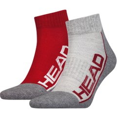 Носки Head Performance Quarter Unisex 2-pack gray/red — 791019001-070, 35-38, 8718824742908
