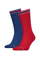 Носки Tommy Hilfiger Men Iconic Sock Sports 2-pack blue/red — 372020001-072, 39-42, 8718824651866