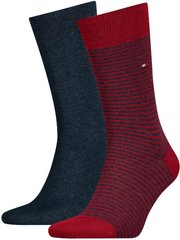 Носки Tommy Hilfiger Socks Small Stripe 2-pack red/blue — 342029001-077, 39-42, 8718824567303