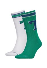 Носки Tommy Hilfiger Men Th Patch Sock 2-pack white/amazon green — 472021001-075, 39-42, 8718824658704