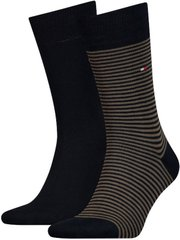 Носки Tommy Hilfiger Socks Small Stripe 2-pack green/black — 342029001-150, 39-42, 8718824567365