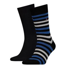 Носки Tommy Hilfiger Socks Duo Stripe 2-pack black/blue — 472001001-040, 39-42, 8718824567778