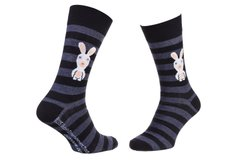 Носки Rabbids Invasion Rabbits And Stripes 1-pack black — 93153261-4, 39-42, 3349610010908