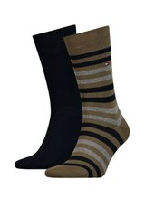 Носки Tommy Hilfiger Socks Duo Stripe 2-pack black/green — 472001001-150, 39-42, 8718824567853