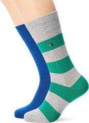 Носки Tommy Hilfiger Men Rugby Sock 2-pack blue/green — 342021001-289, 39-42, 8718824651620