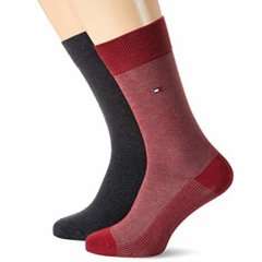 Носки Tommy Hilfiger Socks BirdEye 2-pack red/gray — 482004001-077, 39-42, 8718824568102