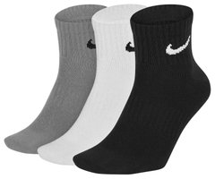 Носки Nike Everyday Lightweight Ankle 3-pack black/gray/white — SX7677-901, 34-38, 888407239137