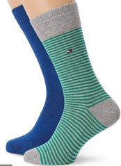 Носки Tommy Hilfiger Men Small Stripe Sock 2-pack blue/green — 342029001-289, 39-42, 8718824651446