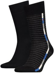 Носки Tommy Hilfiger Socks Pop Stripe 2-pack black — 482011001-200, 39-42, 8718824568485
