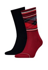 Носки Tommy Hilfiger Socks 2-pack burgundy/black — 482013001-077, 39-42, 8718824572109