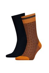 Носки Tommy Hilfiger Socks 2-pack mustard/black — 482017001-083, 39-42, 8718824568607