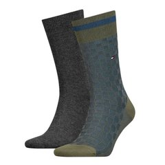Носки Tommy Hilfiger Socks Basket Knit 2-pack gray/green/blue — 482017001-150, 39-42, 8718824568645